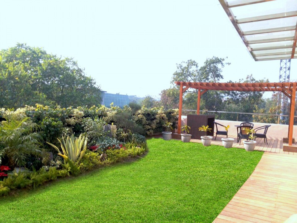 Easy to install rooftop gardens terrace gardens india by for House garden design india