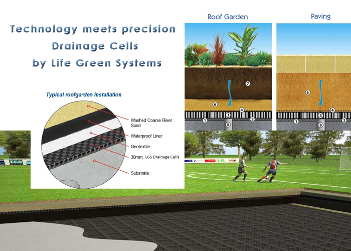 Drain cells by life green systems